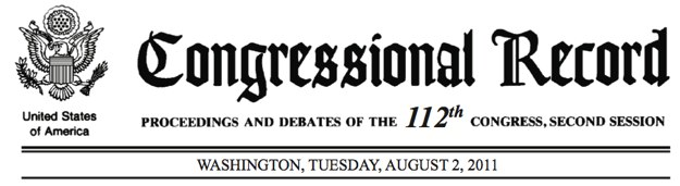 Congressional Record Masthead
